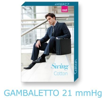 Gambaletto Uomo In Cotone 21mmHg Medi Nero-Marine