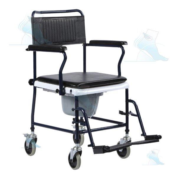 Sedia da comodo con ruote ab 56 intermed ortopedia malpighi - Sedia con ruote ...