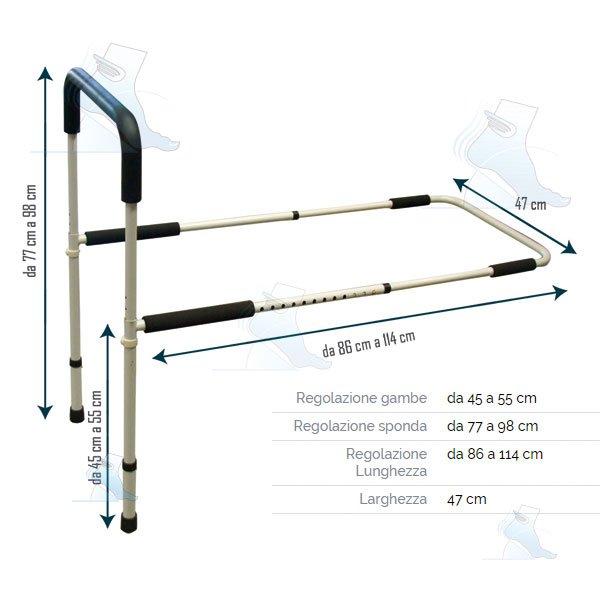 Sponda da letto con gambe aq 11 intermed ortopedia malpighi - Gambe per letto ...