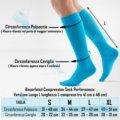 Compression-Sock-Performance-Bauerfeind-calza-corsa-taglia